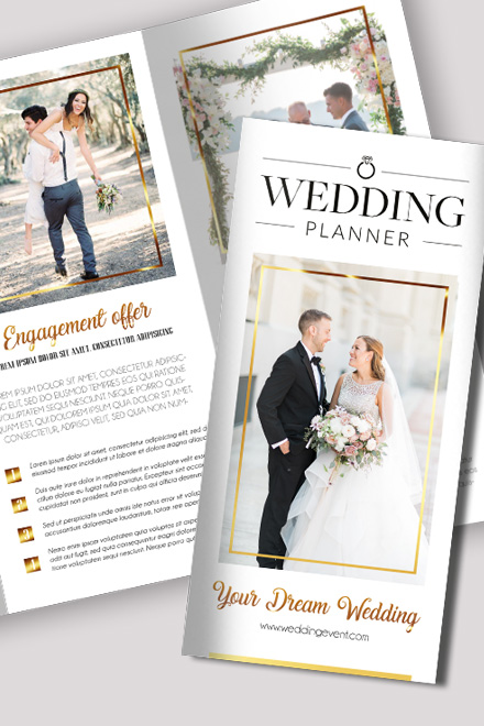 wedding brochure templates free - wedding free psd tri fold brochure template by
