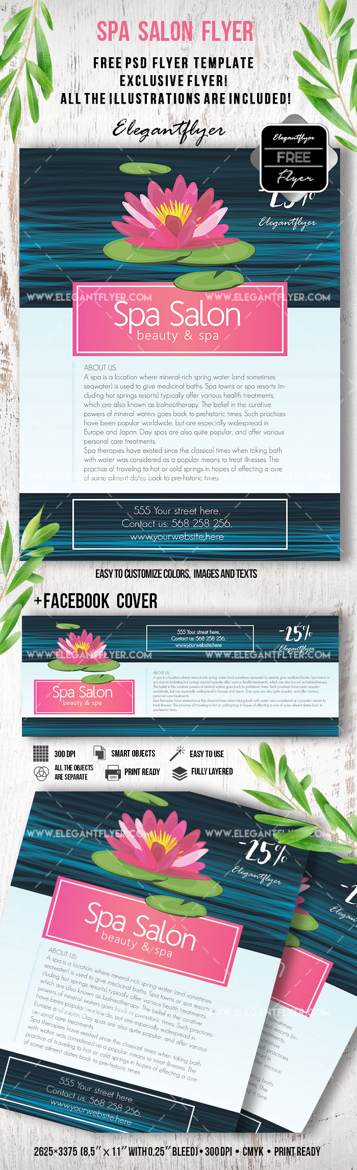 Spa – Free Flyer PSD Template