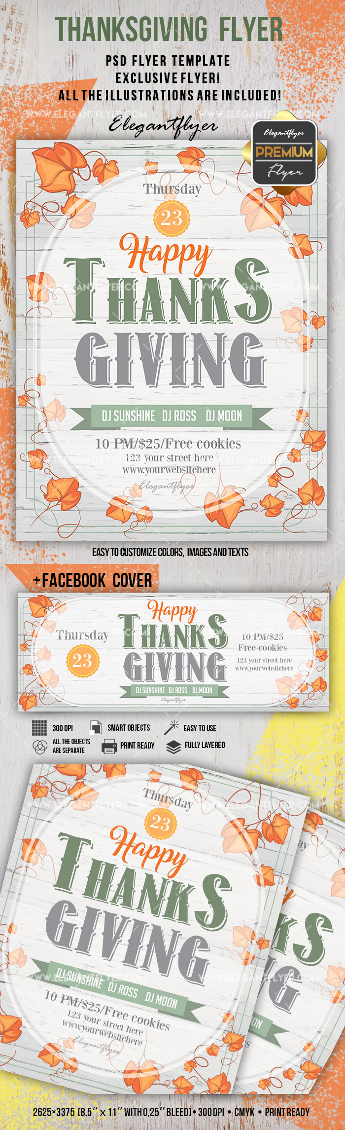 Template for Thanksgiving Tree Leaves
