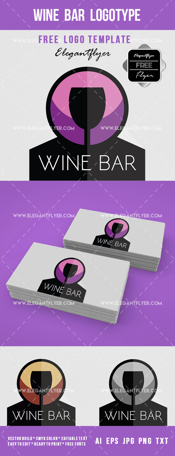 Wine Bar Logotype – Free Logo Template