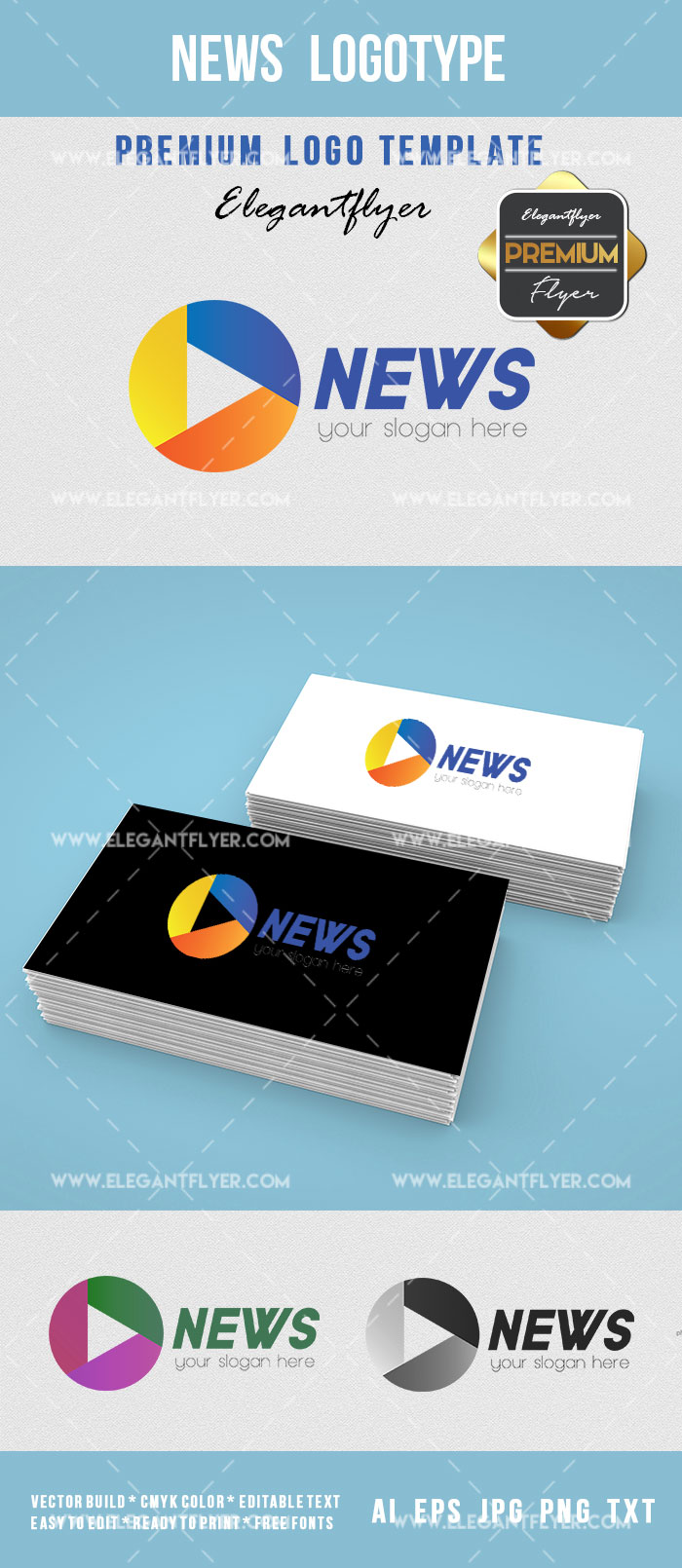 News Logotype Pintable Template