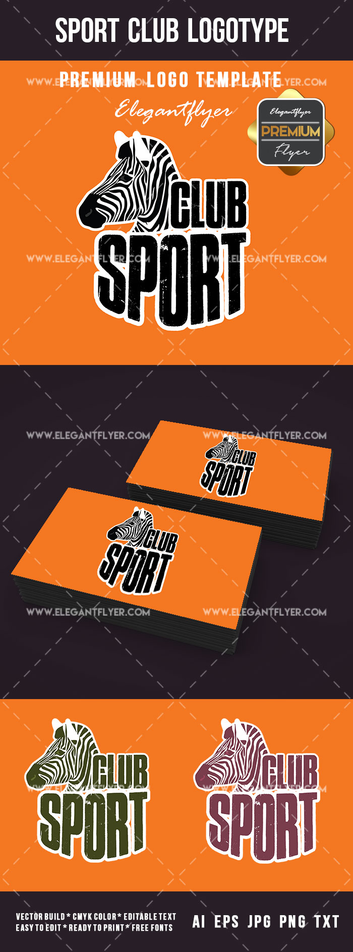 Sport Club Logotype PSD Template