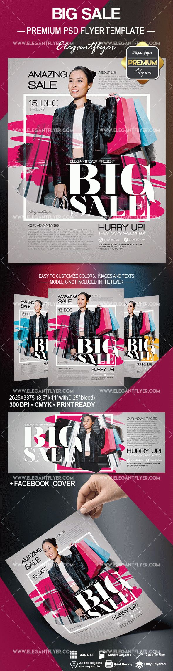 Flyer Template for Big Amazing Sale