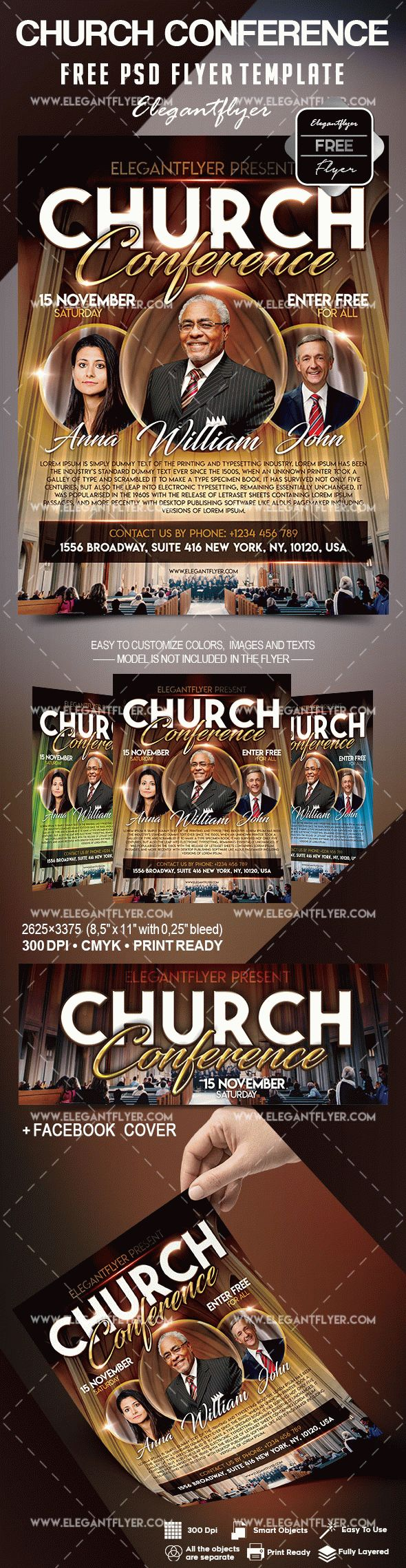 Free Church Conference Flyer Template – by ElegantFlyer