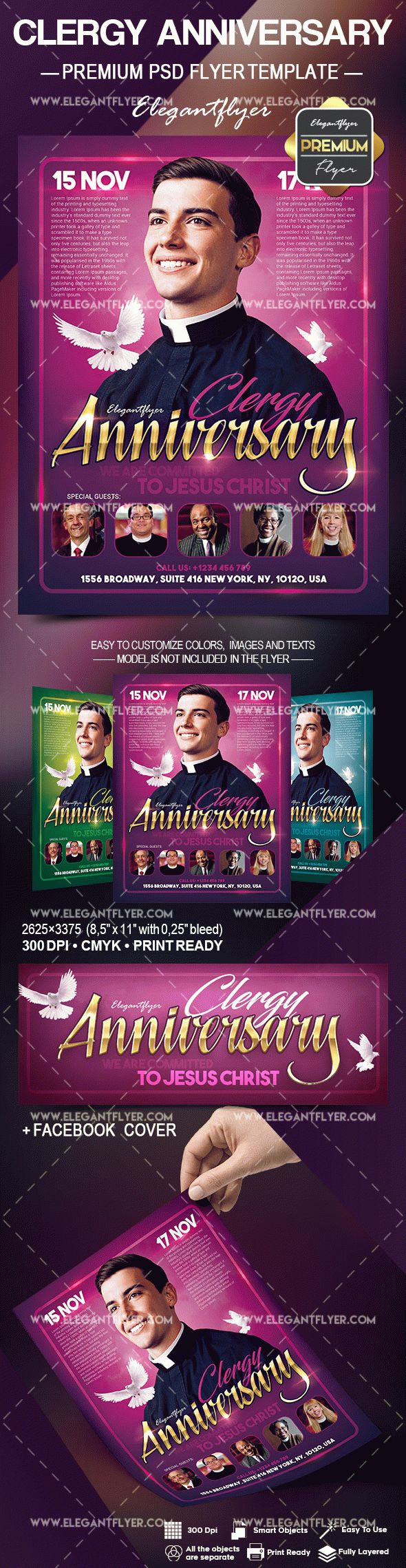 Clergy Anniversary – Flyer PSD Template – by ElegantFlyer