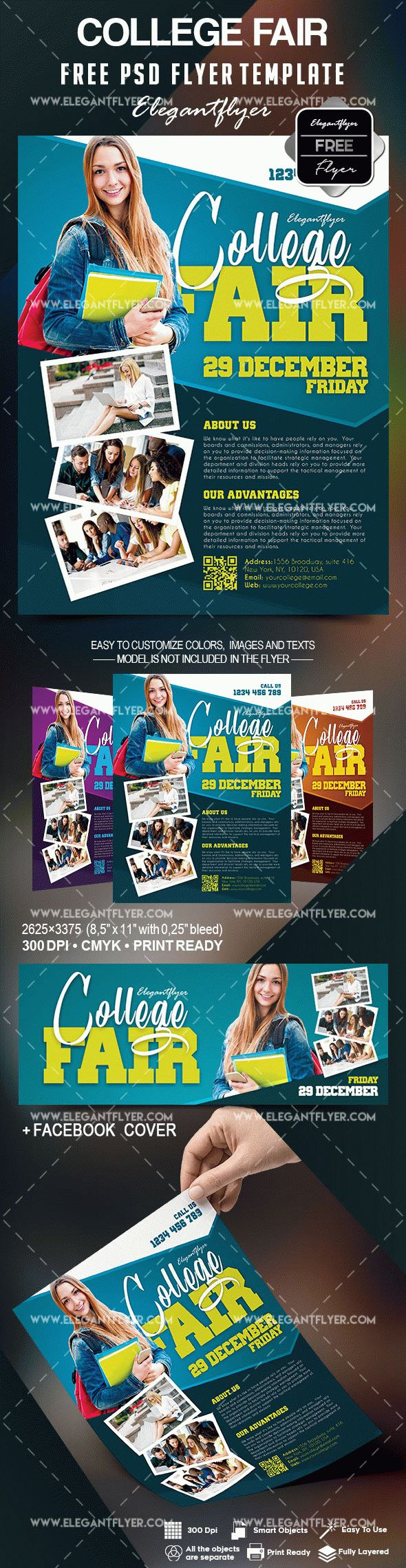 Free College Fair Flyer Template – by ElegantFlyer