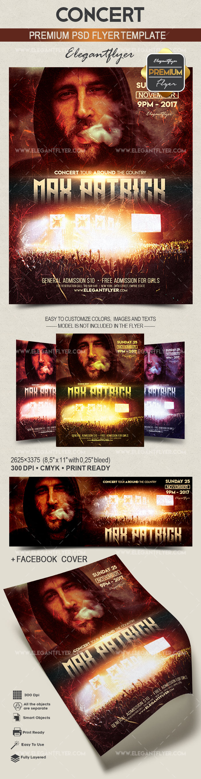 Concert – Flyer PSD Template