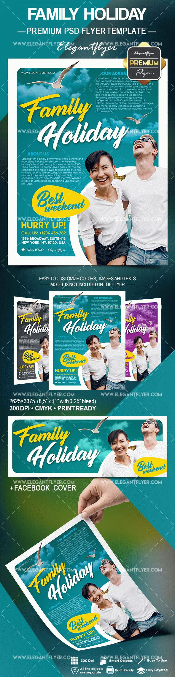 Family Holiday – Flyer PSD Template