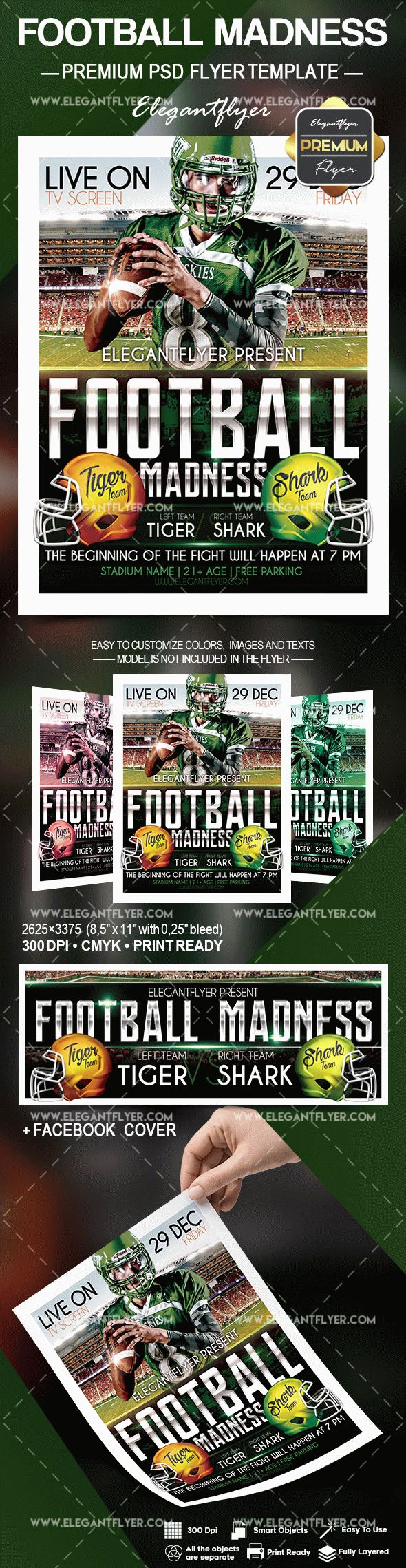 Flyer Template Football Madness