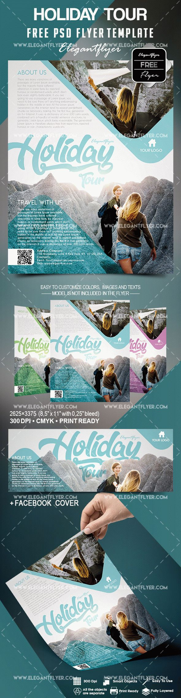 Free Holiday Tour Flyer Template