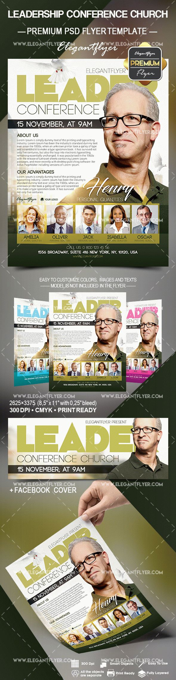 Leadership Conference Church – Flyer PSD Template