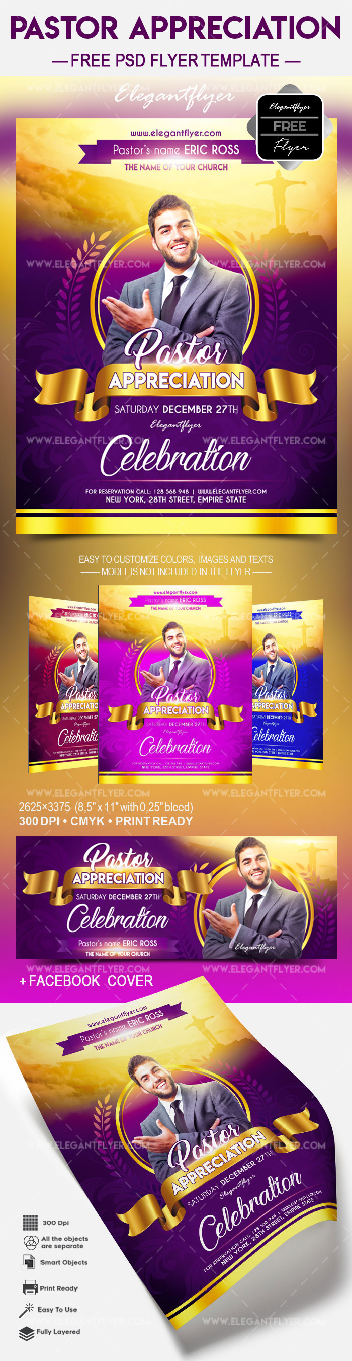 Free Pastor Appreciation – Flyer PSD Template