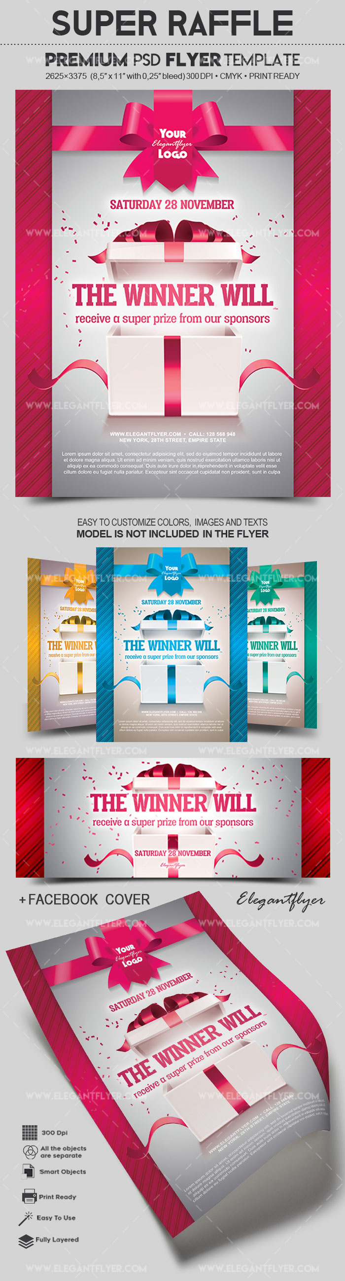 Super Raffle – Flyer PSD Template