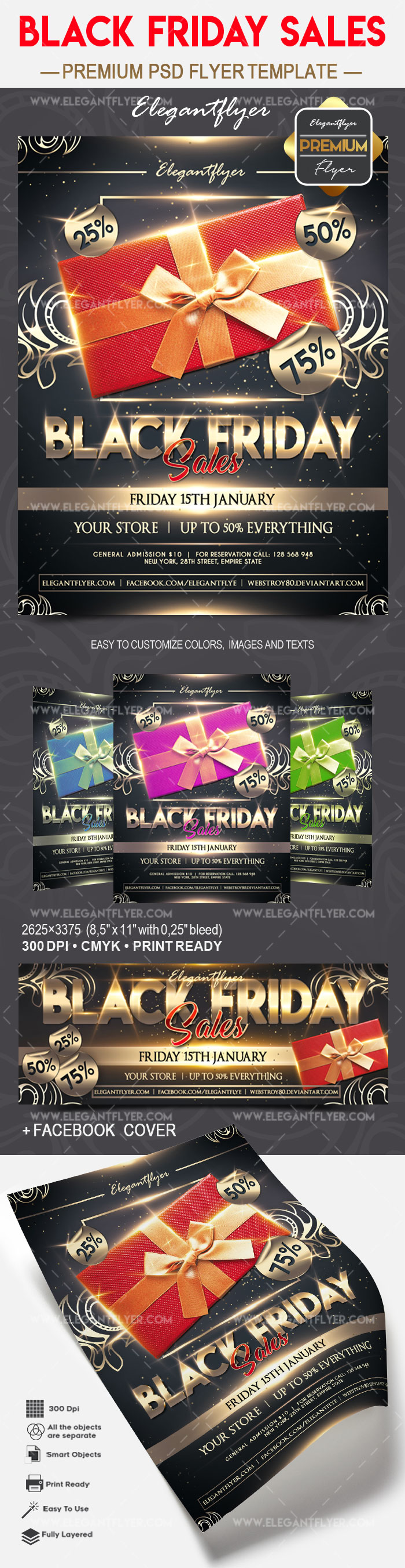 Black friday sales – Flyer PSD Template