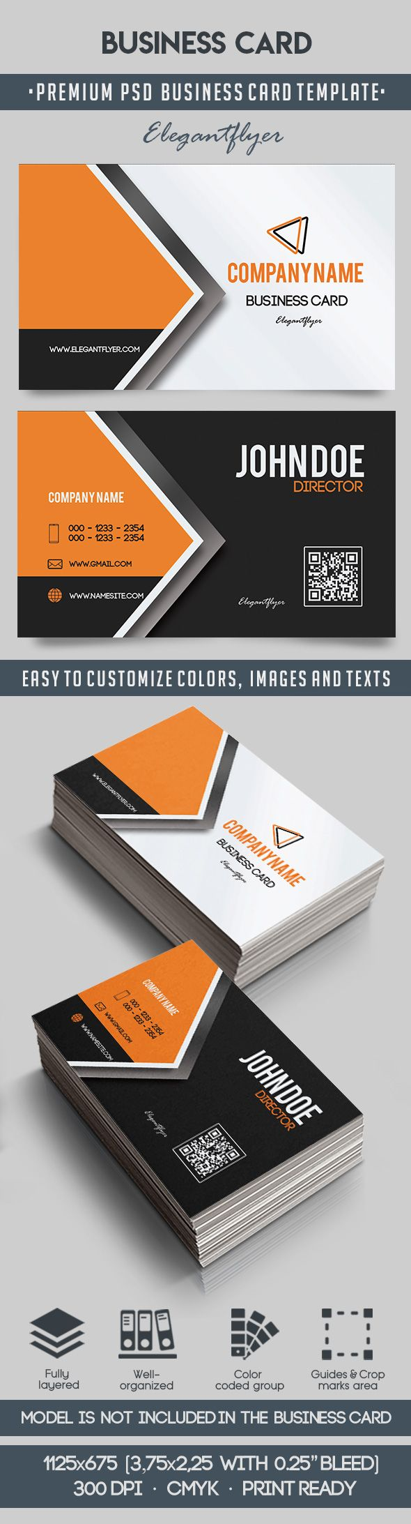 Business Card – Premium Business Card Templates PSD – by ElegantFlyer