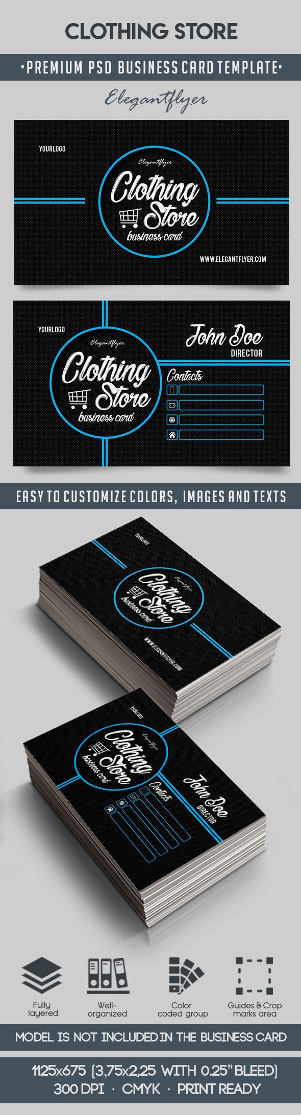 Clothing Store – Premium Business Card Templates PSD