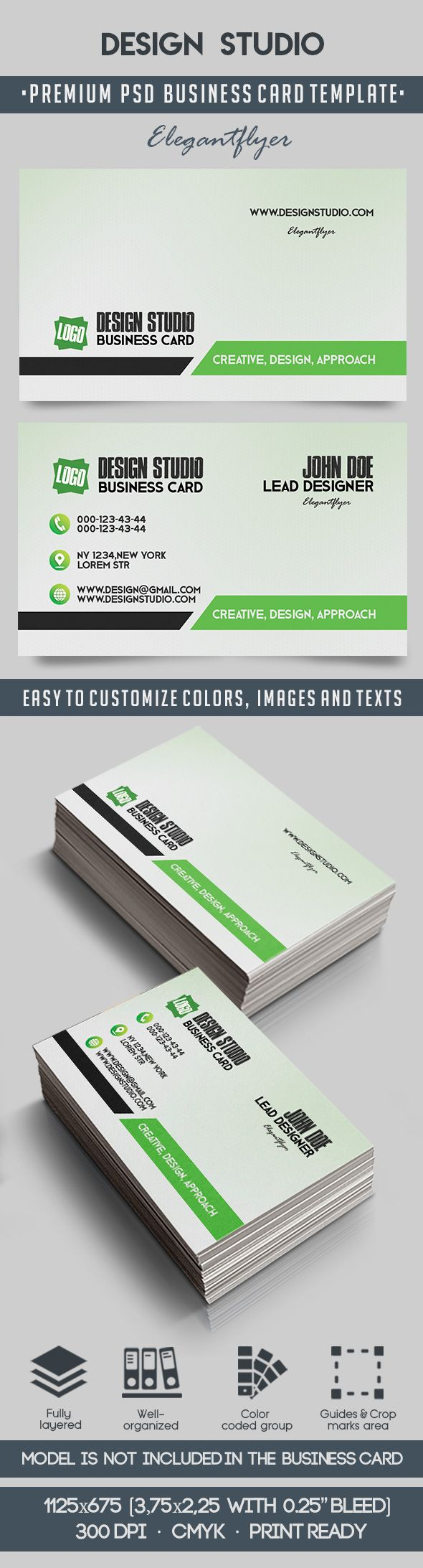 Design Studio – Premium Business Card Templates PSD