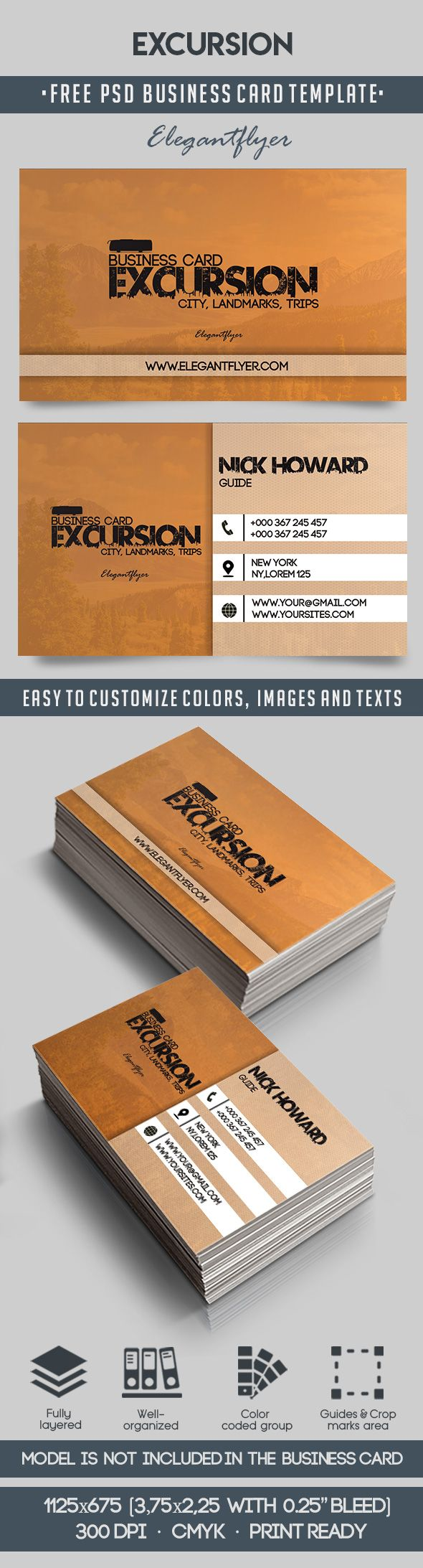 Excursion – Free Business Card Templates PSD