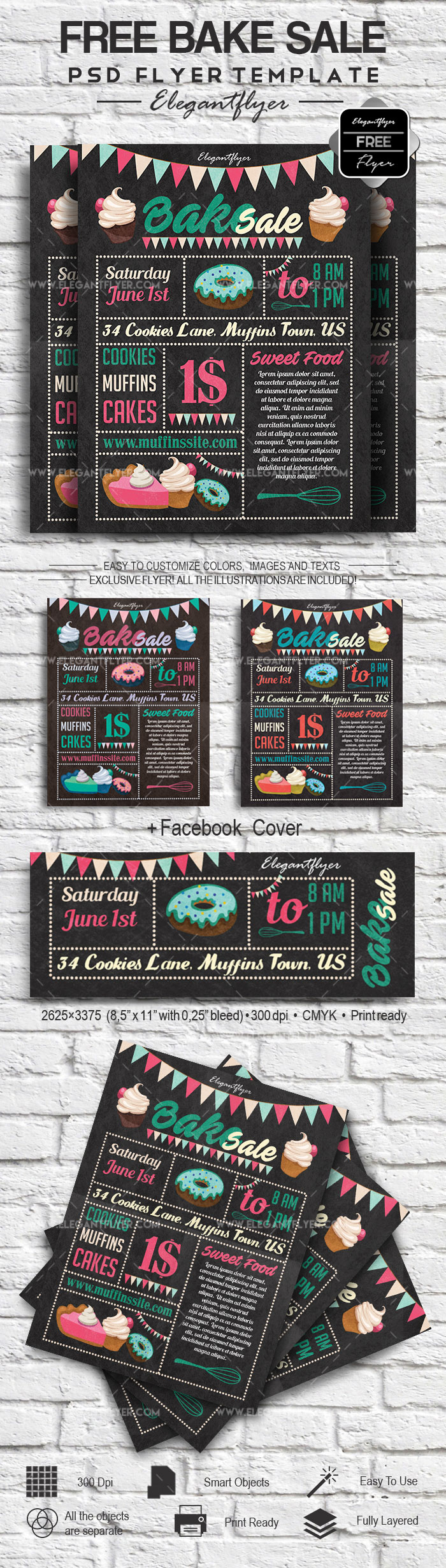 Bake Sale Free Flyer Template
