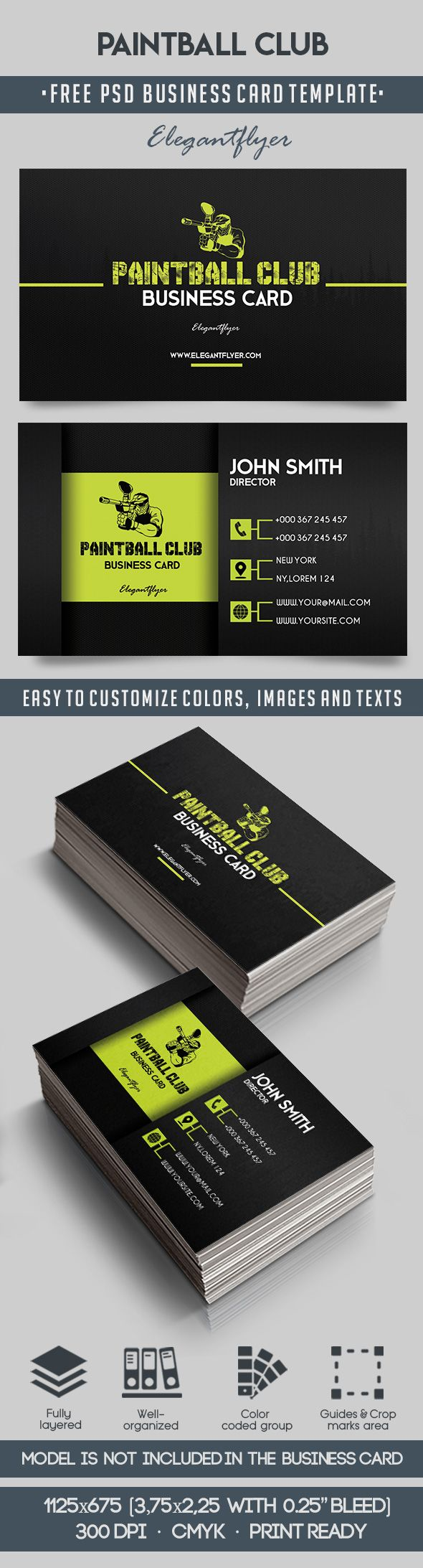 Paintball Club – Free Business Card Templates PSD