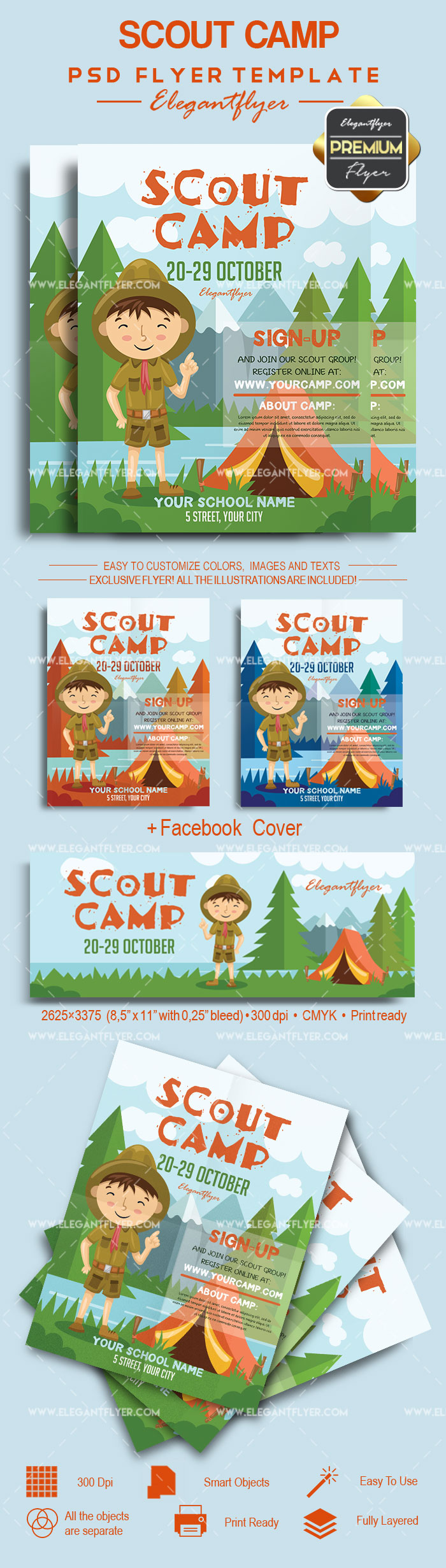 Scout Camp Flyer Template