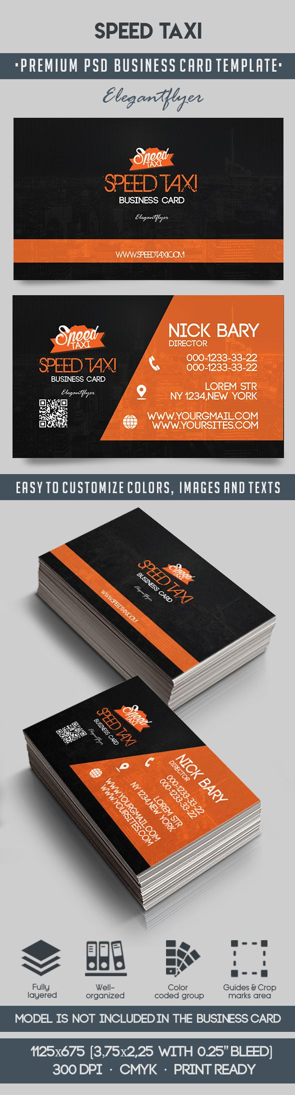 Speed Taxi – Premium Business Card Templates PSD