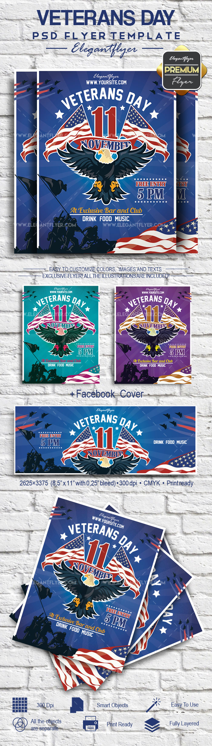 Flyer for Veterans Day Eagle