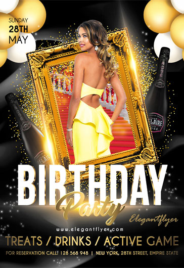 birthday party invite template  u2013 by elegantflyer