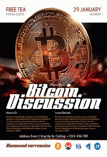 Free Bitcoin Discussion Flyer Template