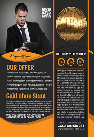 Bitcoins Conference – Flyer PSD Template