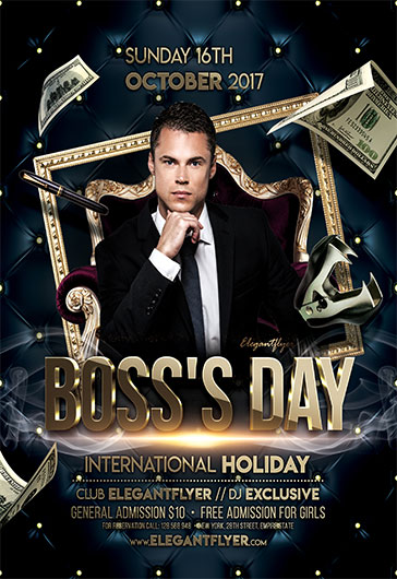 Boss's Day – Flyer PSD Template