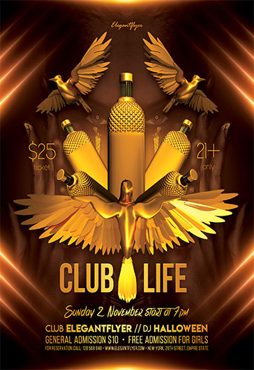Club Life – Flyer PSD Template