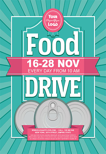 Food Drive – Flyer PSD Template