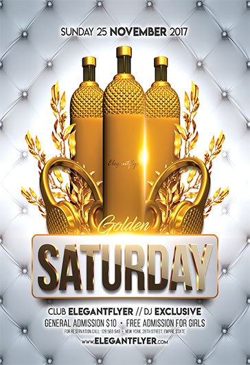 Golden Saturday – Flyer PSD Template