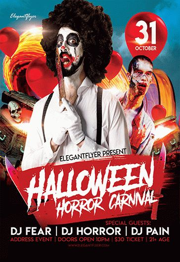 Free Halloween Horror Carnival Flyer Template