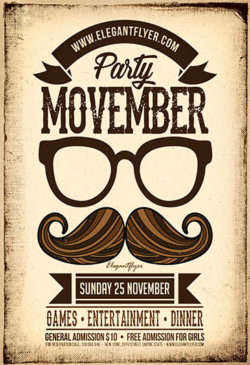 Movember Party – Flyer PSD Template