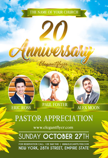 Template for Pastor Anniversary Theme
