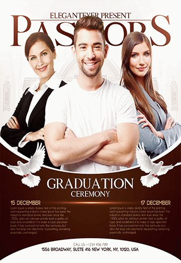 Pastors Graduation Ceremony – Flyer PSD Template