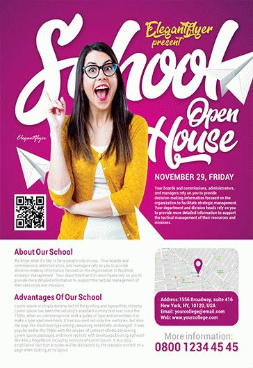Free College Fair Flyer Template By ElegantFlyer - School open house flyer template free