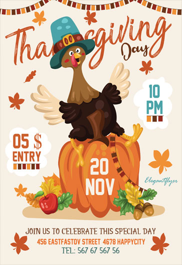 Club Flyer Thanksgiving Party