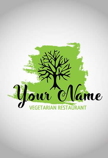 Logo for Vegetarian Restaurant Template