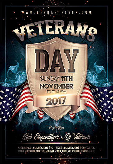 veterans day 2017 flyer psd template by elegantflyer