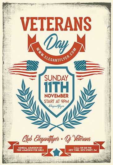Veterans Day V03 – Flyer PSD Template