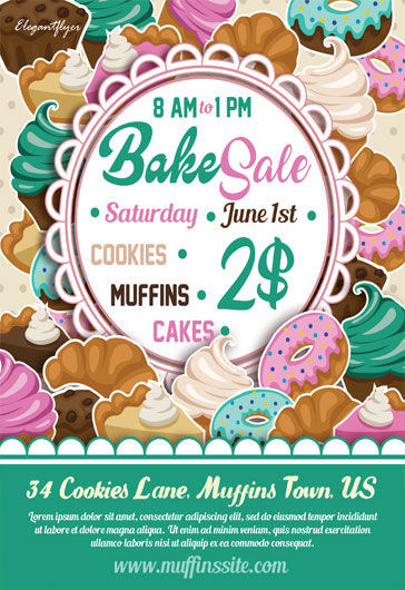 Sweets Sale – Flyer PSD Template