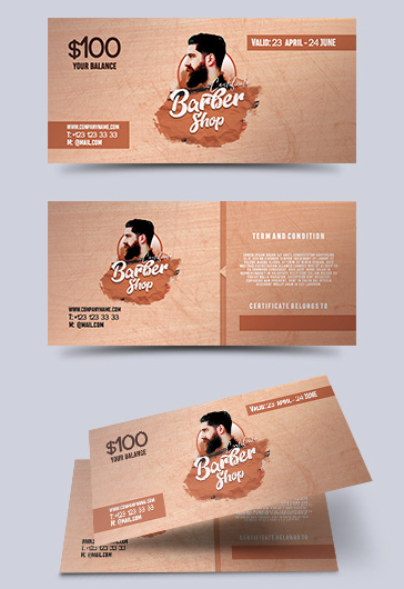 Barber Shop Gift Voucher