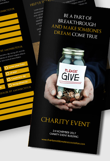 Brochure for Charity Event Template
