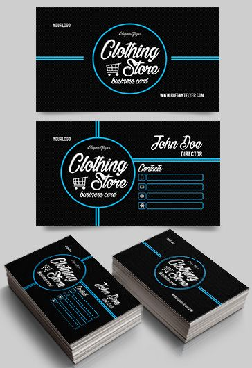 Clothing store premium business card templates psd by elegantflyer wajeb Images