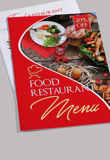 Food Menu Bi-Fold Brochure Template