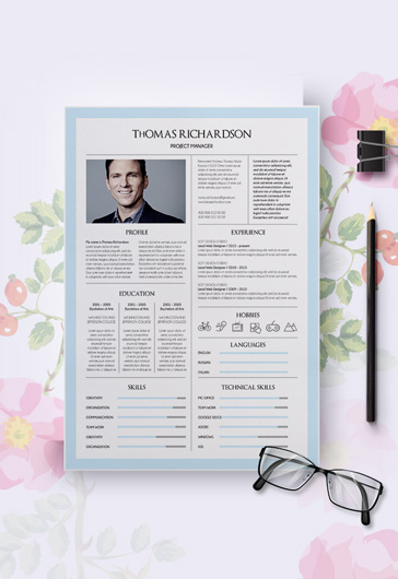free modern resume templates for photoshop psd by elegantflyer