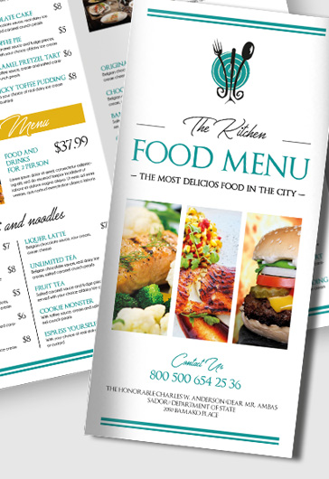 Free Brochure Templates Trifold Brochure Template Brochures - Food brochure templates